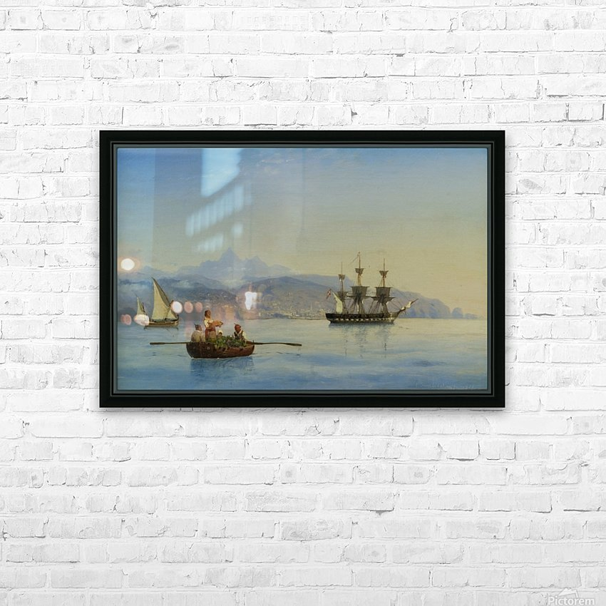 Bay of Palermo, Sicily HD Sublimation Metal print with Decorating Float Frame (BOX)