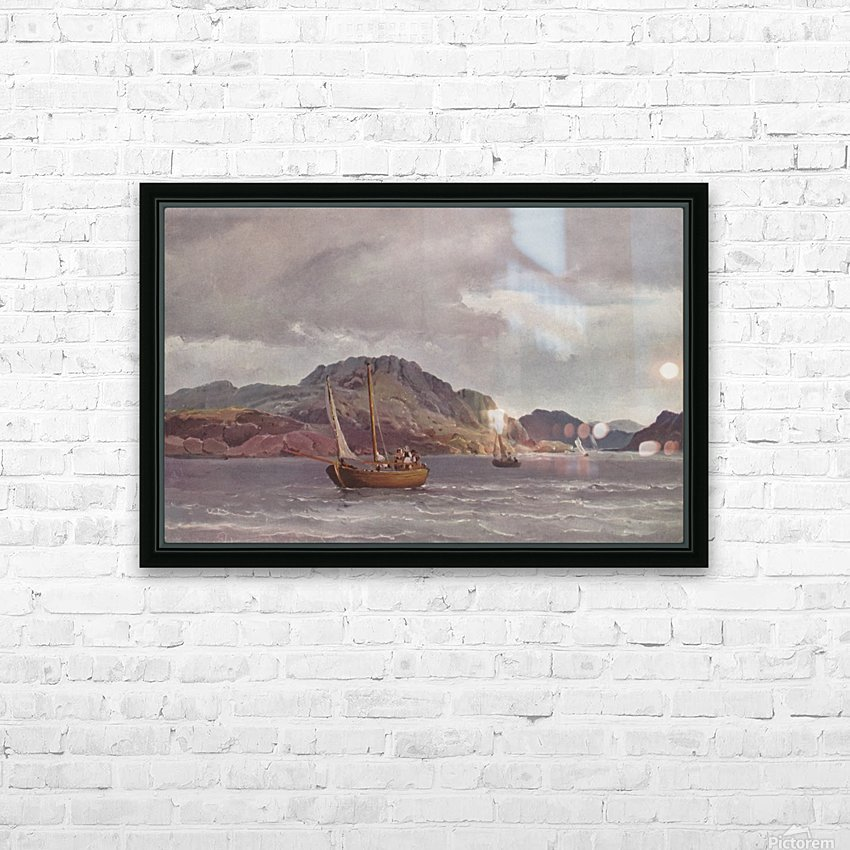 The archipelago of Marstrand - 1852 HD Sublimation Metal print with Decorating Float Frame (BOX)
