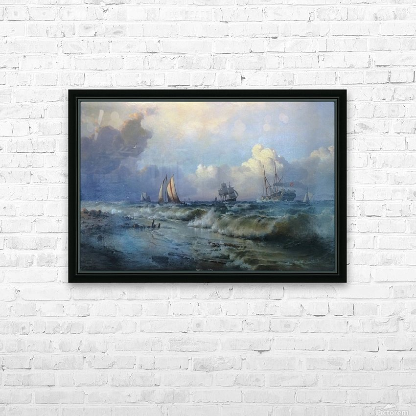 Boats near Oresund HD Sublimation Metal print with Decorating Float Frame (BOX)