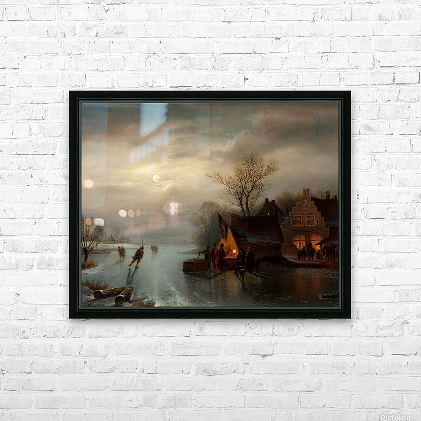 Amsterdam skating scene HD Sublimation Metal print with Decorating Float Frame (BOX)