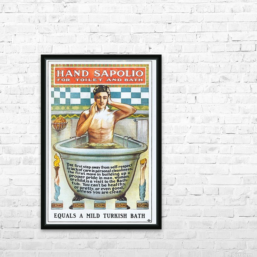 Sapolio Soap advertising poster HD Sublimation Metal print with Decorating Float Frame (BOX)