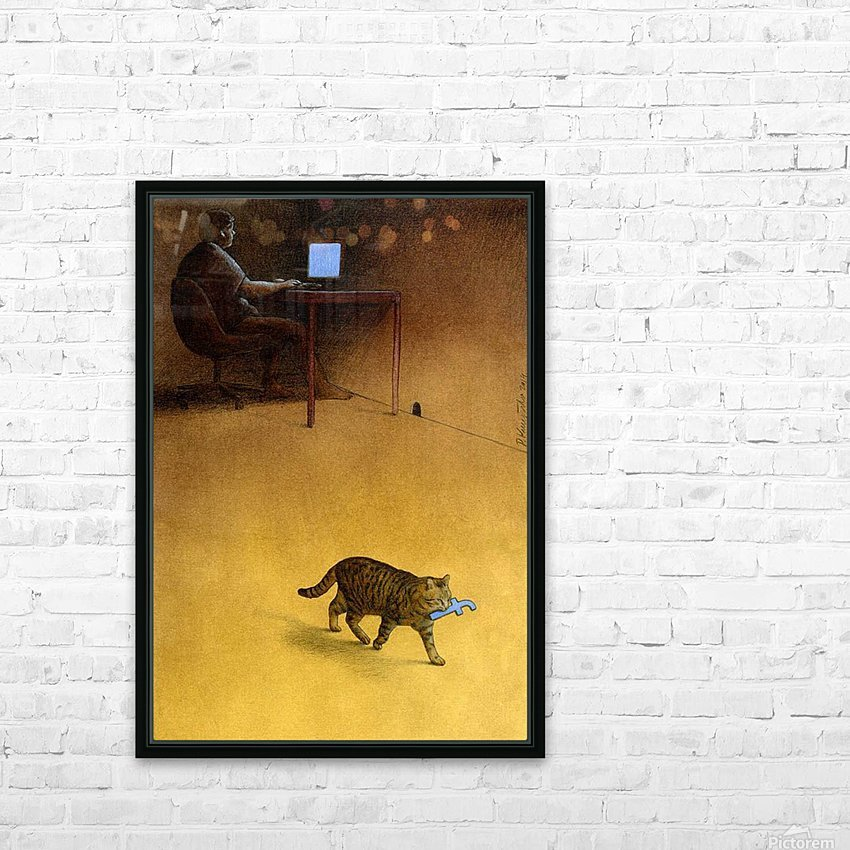 Modern Hunter HD Sublimation Metal print with Decorating Float Frame (BOX)