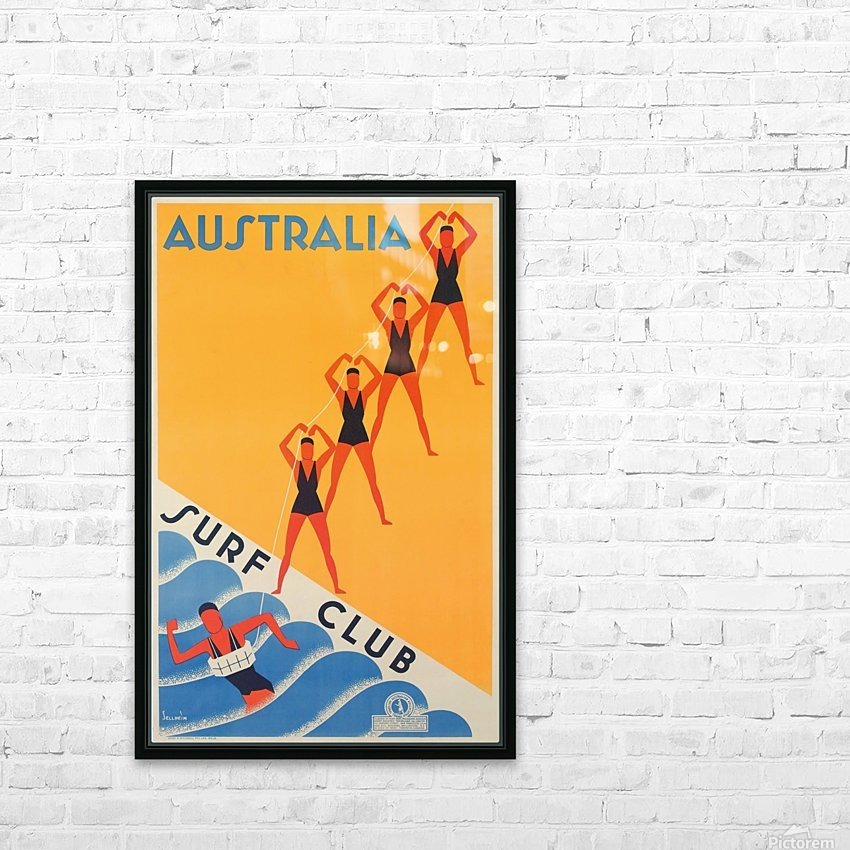 Australia Surf Club poster HD Sublimation Metal print with Decorating Float Frame (BOX)