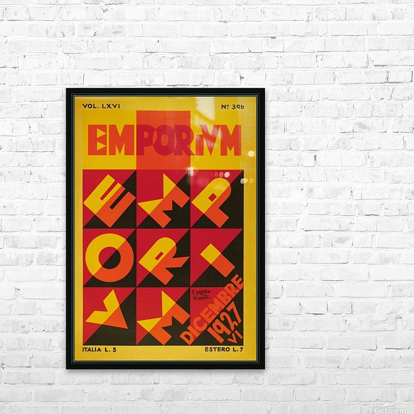 Emporium Italian vintage poster HD Sublimation Metal print with Decorating Float Frame (BOX)