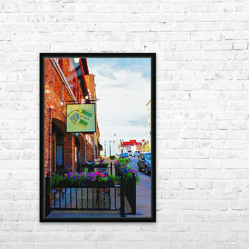 Downtown Kankakee Cafe HD Sublimation Metal print with Decorating Float Frame (BOX)
