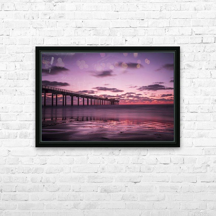 LaJolla Bridge HD Sublimation Metal print with Decorating Float Frame (BOX)