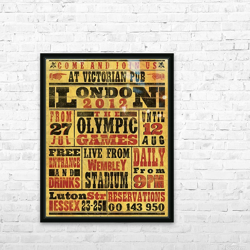 Vintage Olympics poster HD Sublimation Metal print with Decorating Float Frame (BOX)