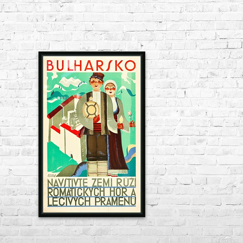 Bulgaria travel poster HD Sublimation Metal print with Decorating Float Frame (BOX)