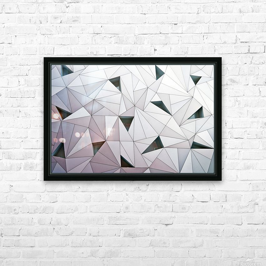triangulation 1 HD Sublimation Metal print with Decorating Float Frame (BOX)
