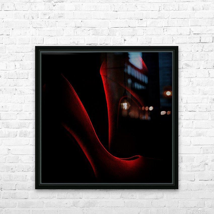 Shoe in Red HD sublimation métal imprimé avec décoration flotteur cadre (boîte)