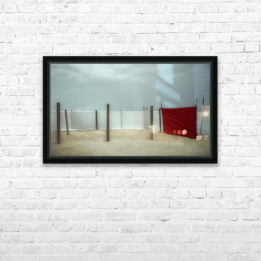 Red canvas HD Sublimation Metal print with Decorating Float Frame (BOX)
