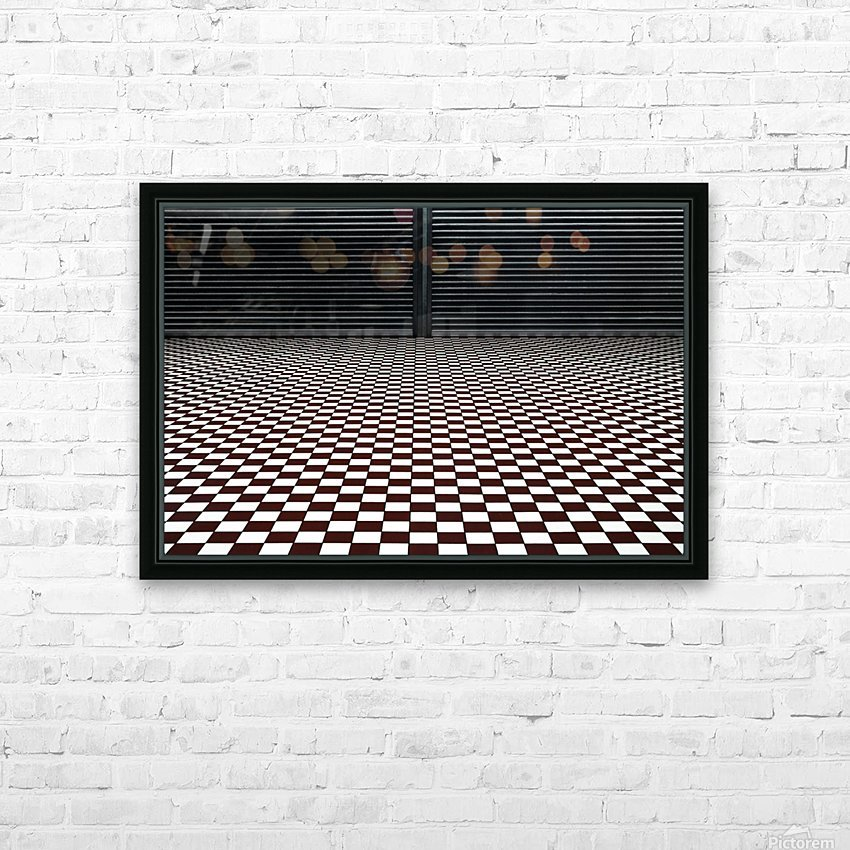 the hypnotic floor HD Sublimation Metal print with Decorating Float Frame (BOX)