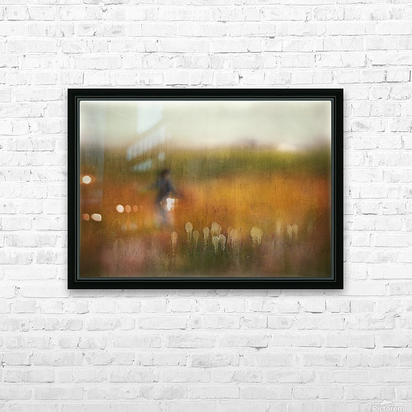 A Girl and Bear grass HD Sublimation Metal print with Decorating Float Frame (BOX)