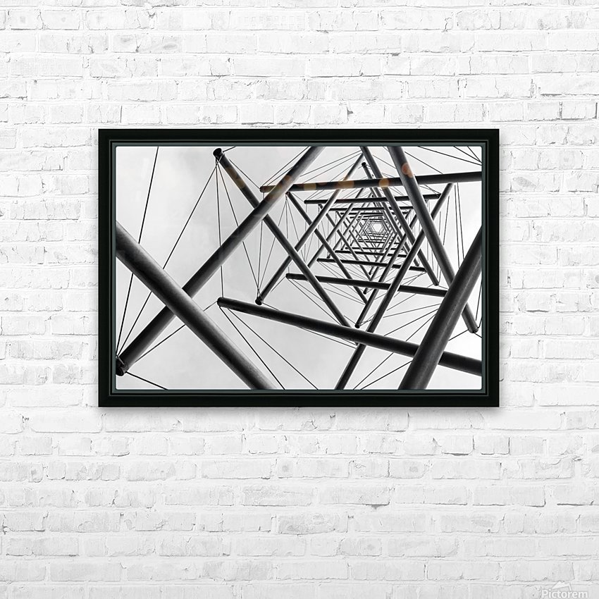 Lines HD Sublimation Metal print with Decorating Float Frame (BOX)