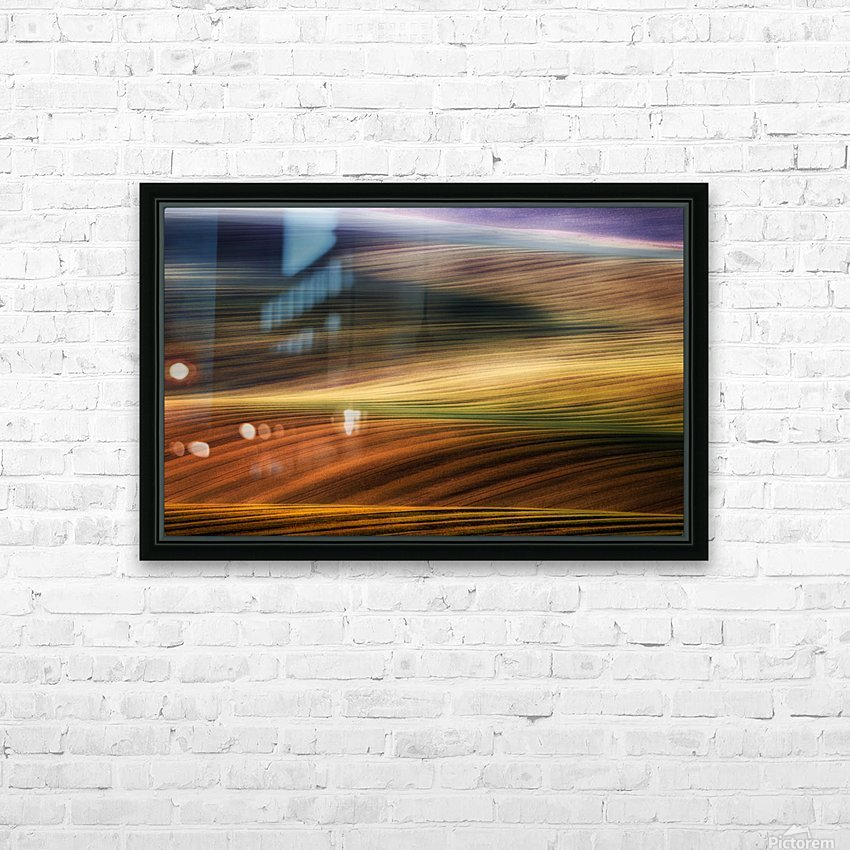 autumn fields HD Sublimation Metal print with Decorating Float Frame (BOX)