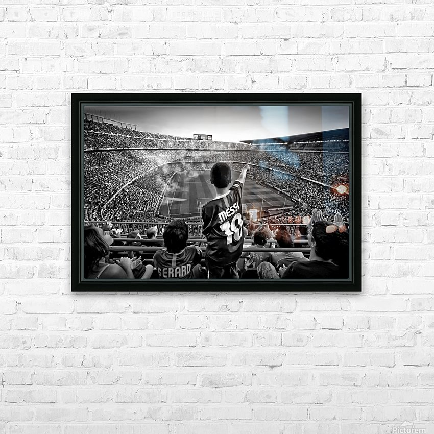 Cathedral of Football HD Sublimation Metal print with Decorating Float Frame (BOX)