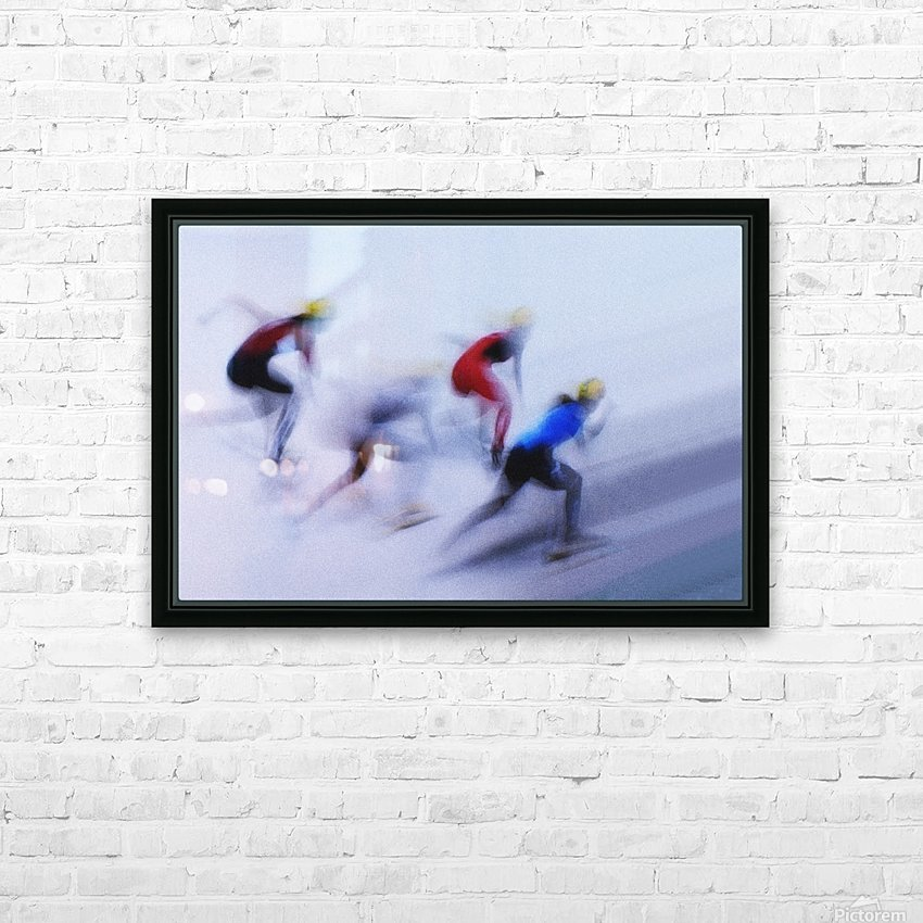 Speed Skating 1 HD Sublimation Metal print with Decorating Float Frame (BOX)