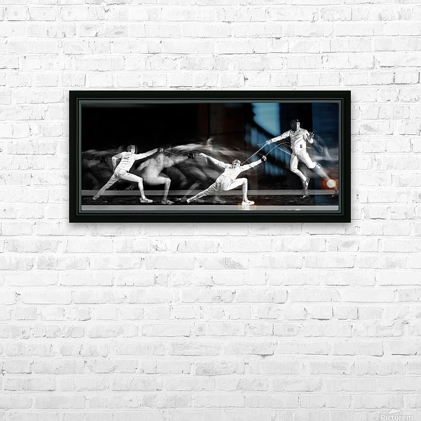 Fencing 1 HD Sublimation Metal print with Decorating Float Frame (BOX)