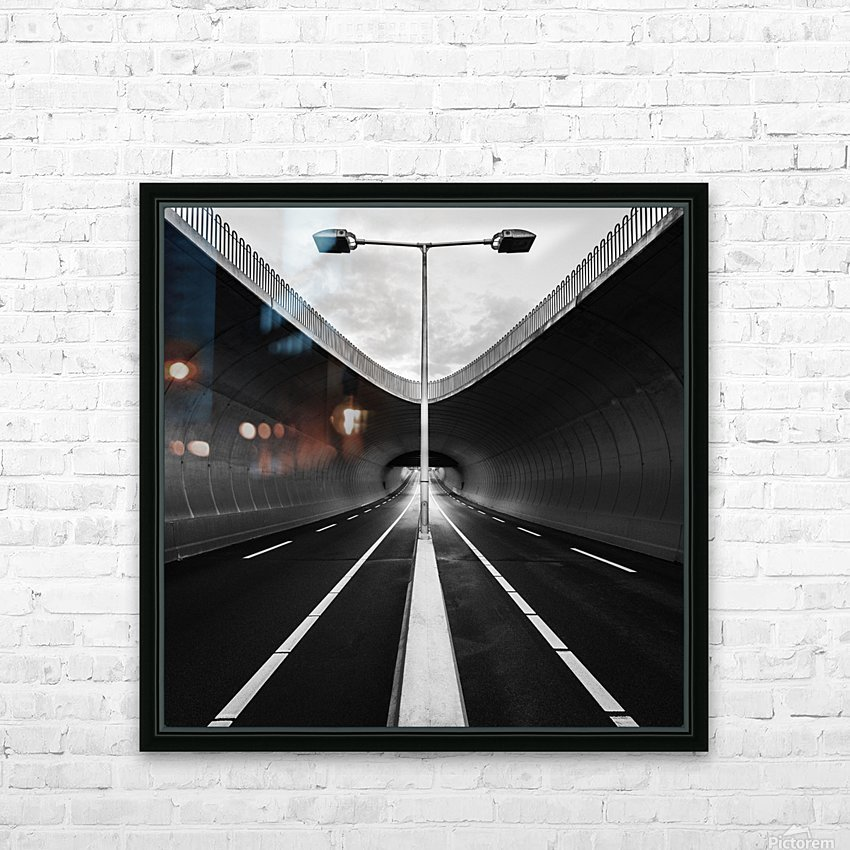 tunnel HD Sublimation Metal print with Decorating Float Frame (BOX)