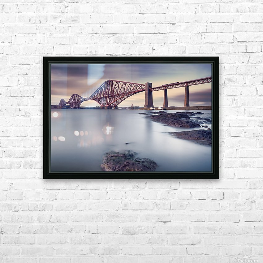 Forth Rail Bridge HD Sublimation Metal print with Decorating Float Frame (BOX)