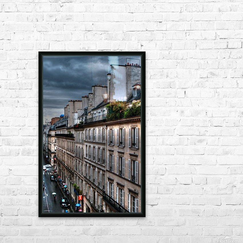 autumn rain paris france tom prendergast HD Sublimation Metal print with Decorating Float Frame (BOX)