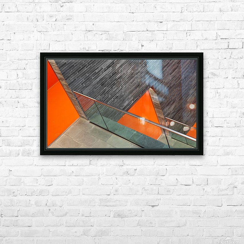 Repeat the orange HD Sublimation Metal print with Decorating Float Frame (BOX)