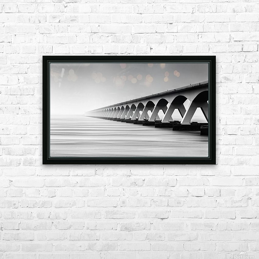 The Endless Bridge HD Sublimation Metal print with Decorating Float Frame (BOX)