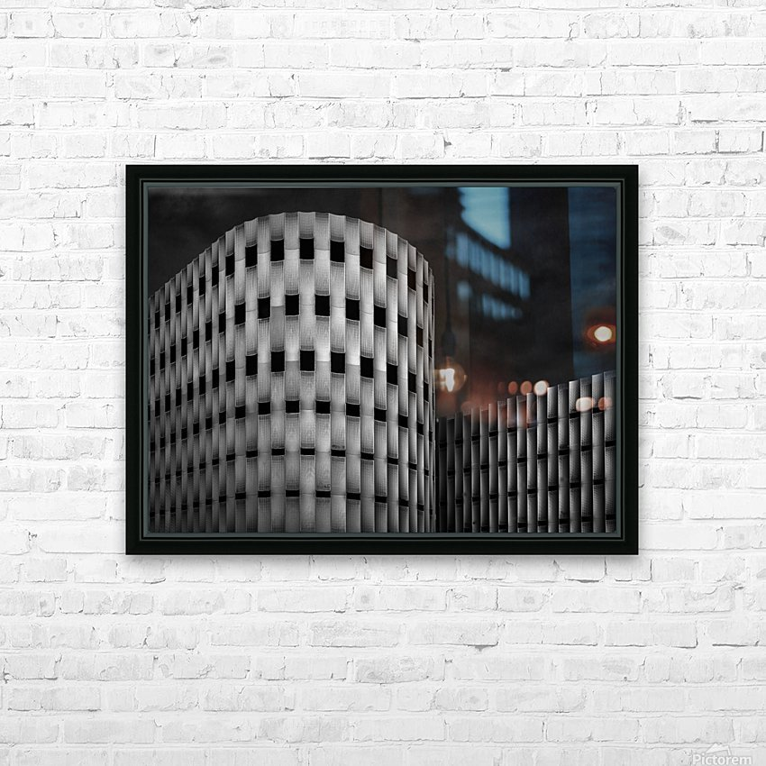 Rhythm in dark HD Sublimation Metal print with Decorating Float Frame (BOX)