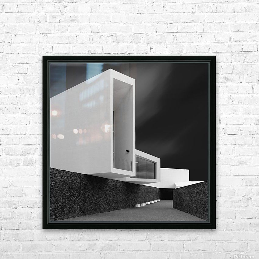 WHITE WALLS HD Sublimation Metal print with Decorating Float Frame (BOX)