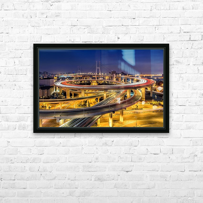 Nanpu Bridge HD Sublimation Metal print with Decorating Float Frame (BOX)