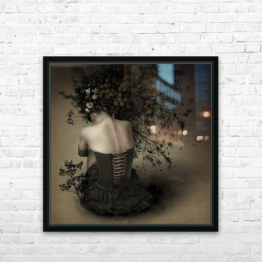 Night scented girl HD Sublimation Metal print with Decorating Float Frame (BOX)