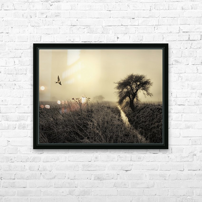 Morning mood HD Sublimation Metal print with Decorating Float Frame (BOX)