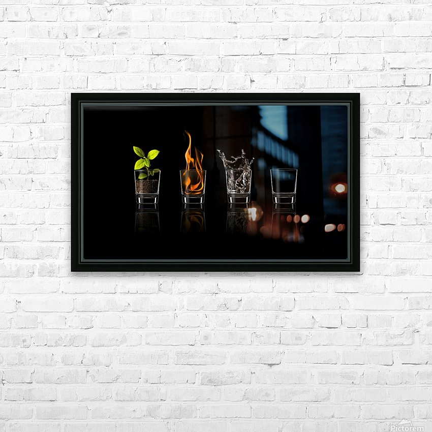 Elements... HD Sublimation Metal print with Decorating Float Frame (BOX)