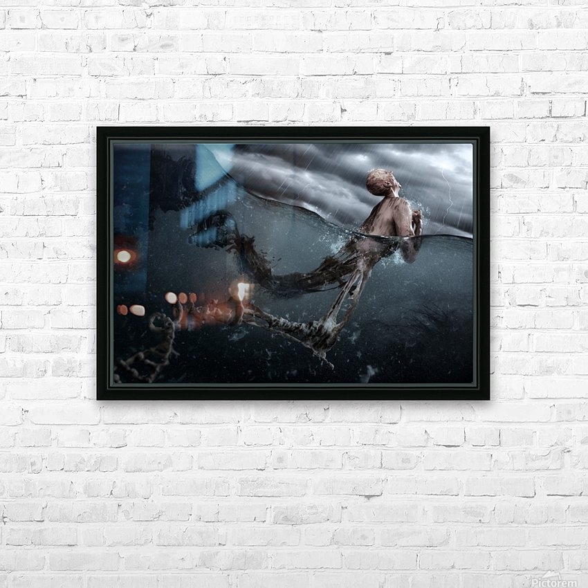 Primordial Soup HD Sublimation Metal print with Decorating Float Frame (BOX)