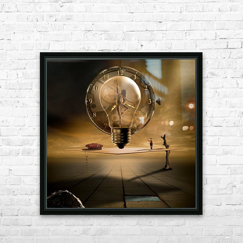Even in the quietest Moment HD Sublimation Metal print with Decorating Float Frame (BOX)
