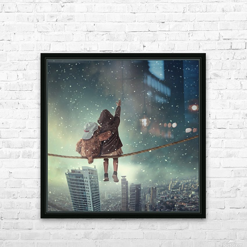 Let it snow HD Sublimation Metal print with Decorating Float Frame (BOX)