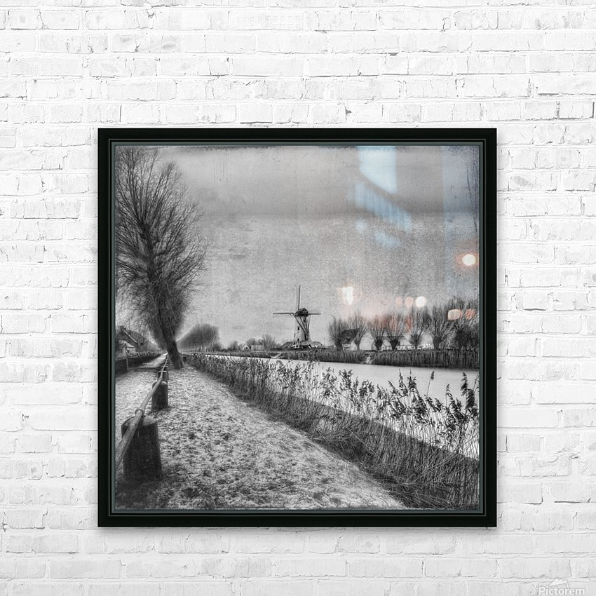 My beloved flat country: Damme HD Sublimation Metal print with Decorating Float Frame (BOX)