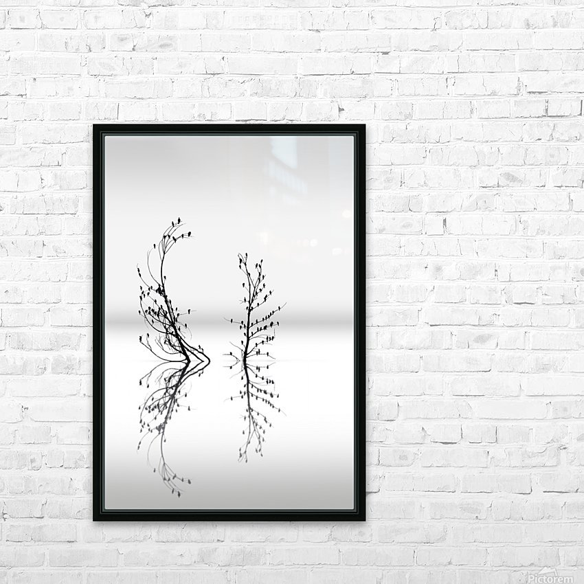 Trees with Birds (2) HD Sublimation Metal print with Decorating Float Frame (BOX)