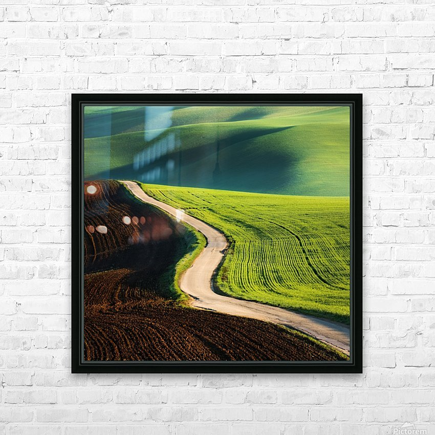 Road HD Sublimation Metal print with Decorating Float Frame (BOX)