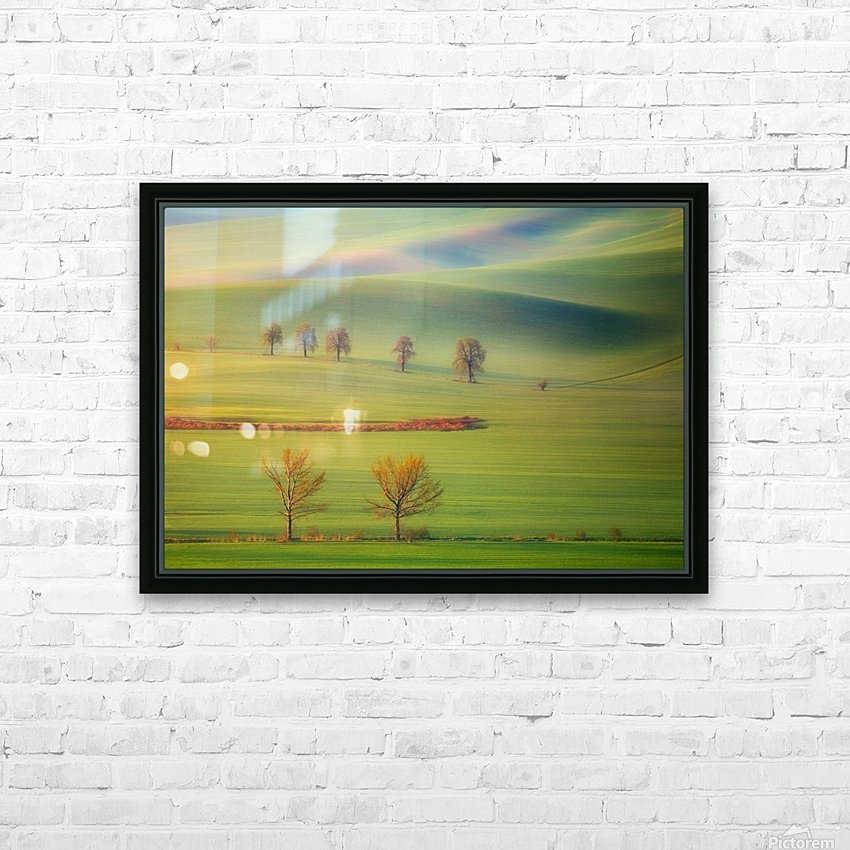 Fields HD Sublimation Metal print with Decorating Float Frame (BOX)
