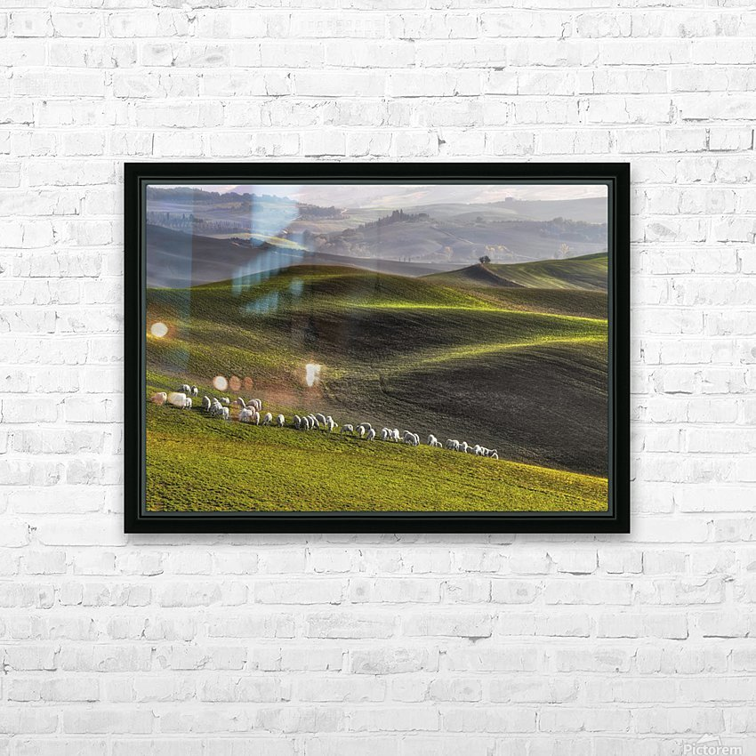 pastoral HD Sublimation Metal print with Decorating Float Frame (BOX)