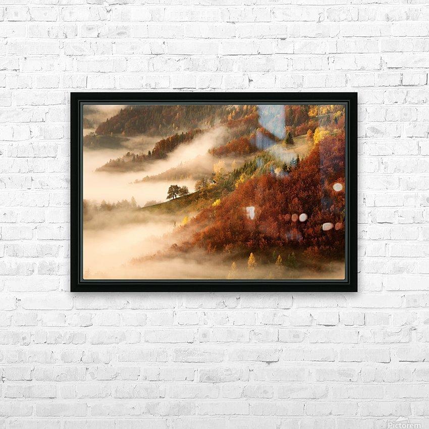 November's fog HD Sublimation Metal print with Decorating Float Frame (BOX)