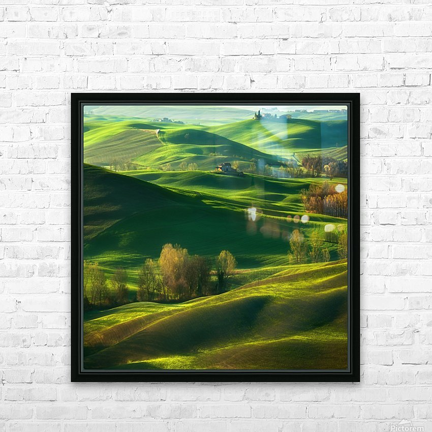 Valley... HD Sublimation Metal print with Decorating Float Frame (BOX)