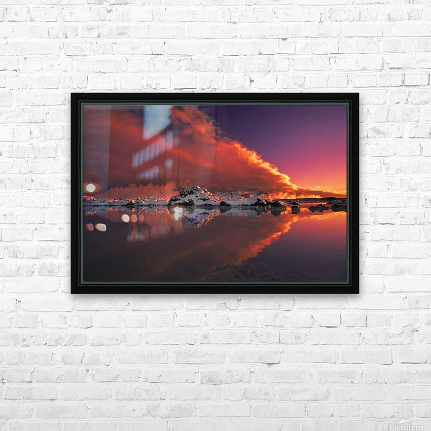 Ice & Fire HD Sublimation Metal print with Decorating Float Frame (BOX)