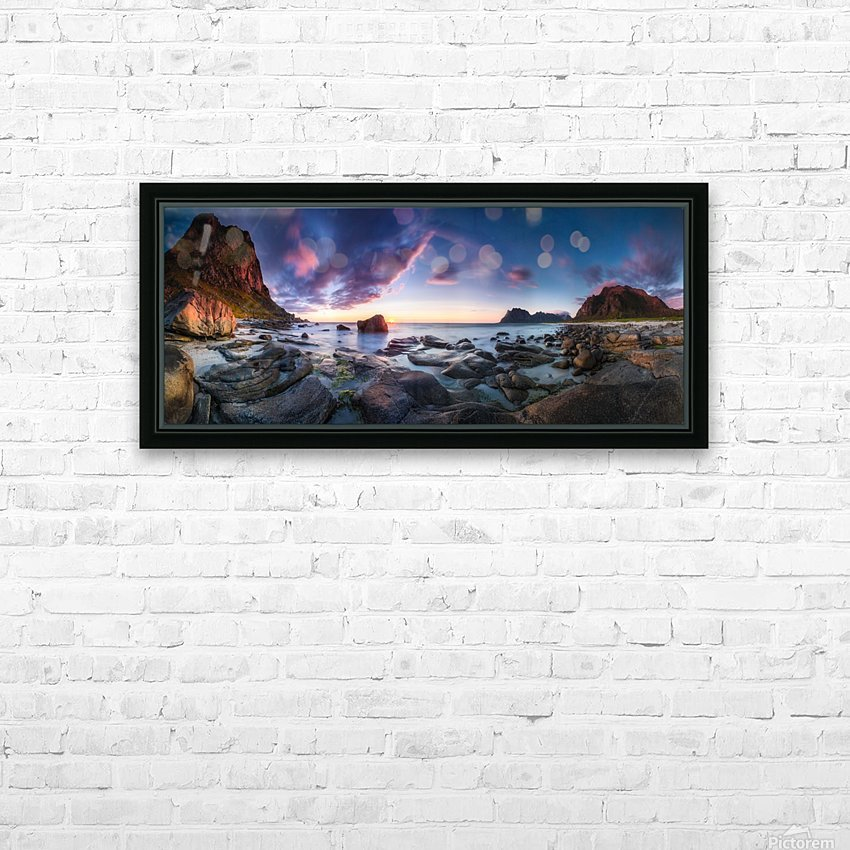 Utakleiv sunset HD Sublimation Metal print with Decorating Float Frame (BOX)