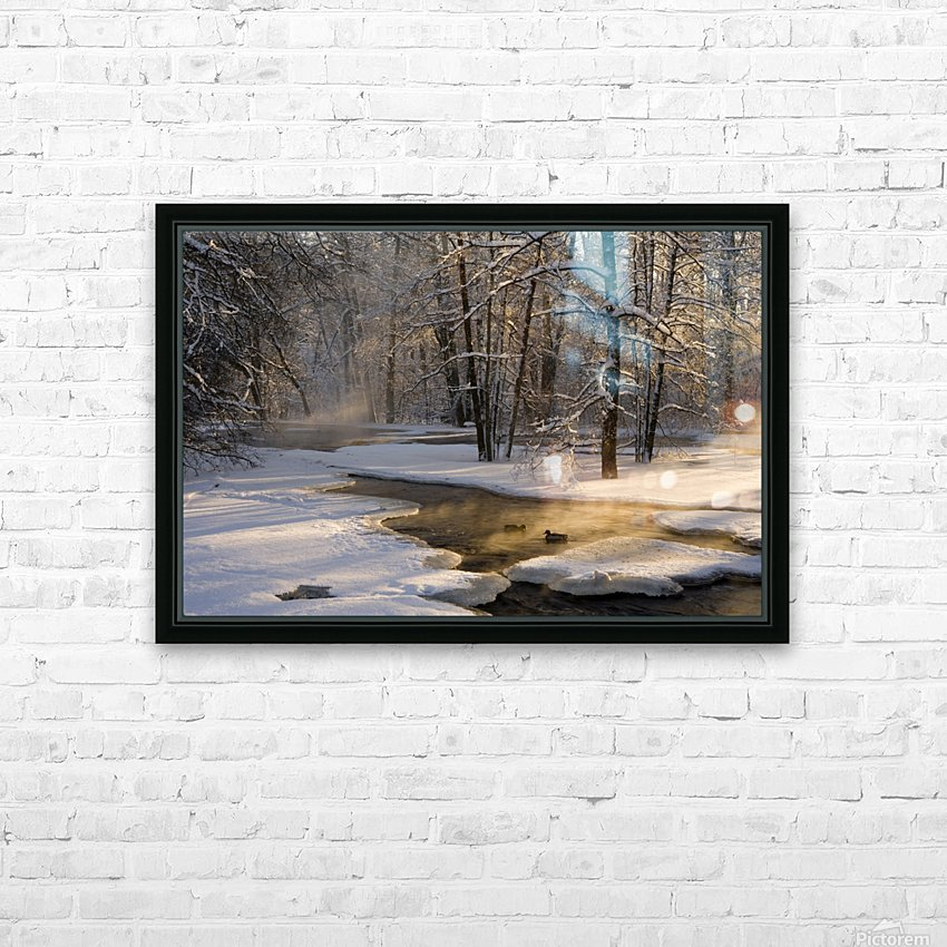 The first light HD Sublimation Metal print with Decorating Float Frame (BOX)