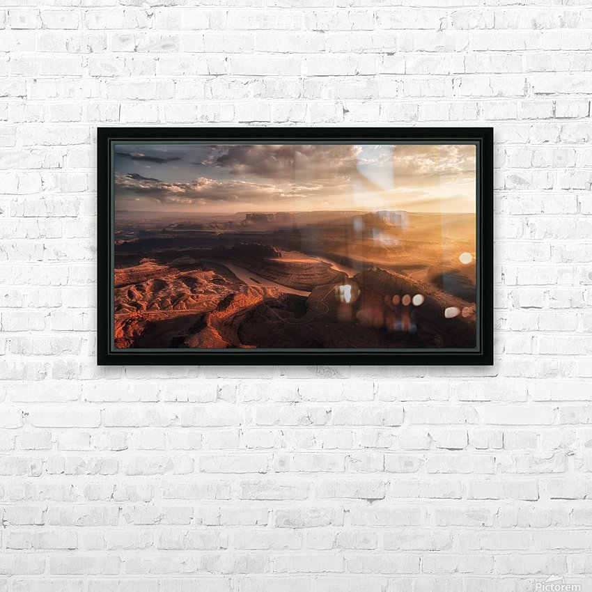 Light Blades HD Sublimation Metal print with Decorating Float Frame (BOX)