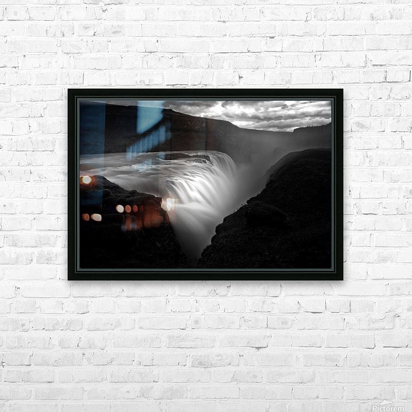 Gullfoss HD Sublimation Metal print with Decorating Float Frame (BOX)