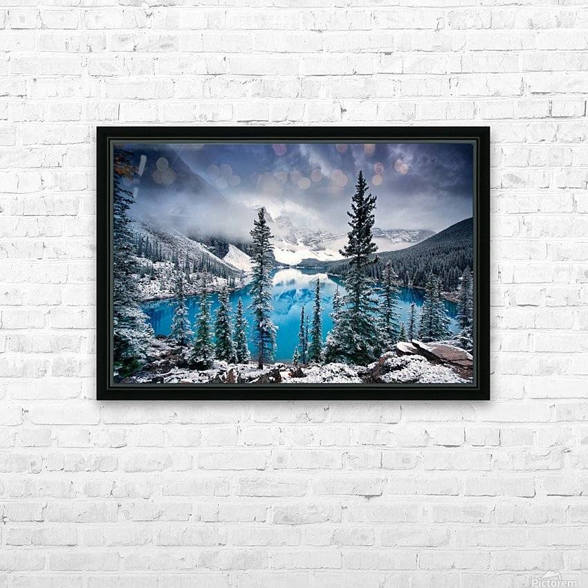 Morning blues HD Sublimation Metal print with Decorating Float Frame (BOX)