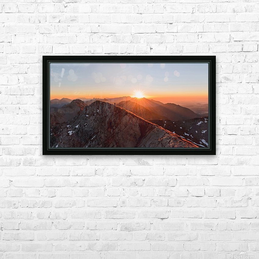 Running on the ridge HD Sublimation Metal print with Decorating Float Frame (BOX)